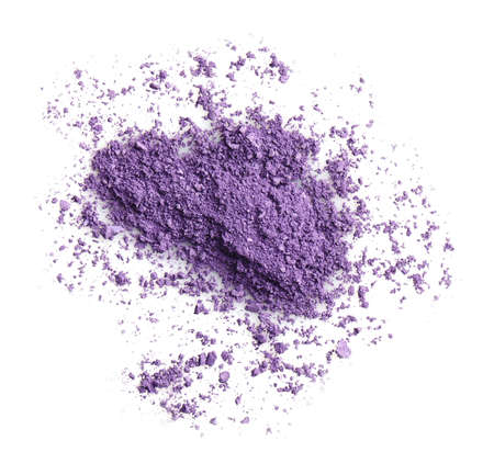 Purple eye shadow isolated on white