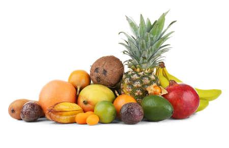 Exotic fruits, isolated on white