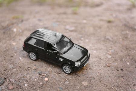 Close up of toy car on ground