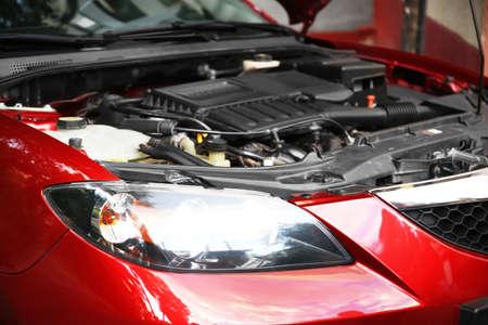 Nahaufnahme von Auto-Motor Standard-Bild