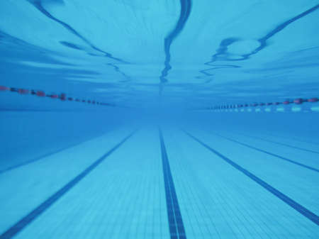 Swimming pool underwater view
