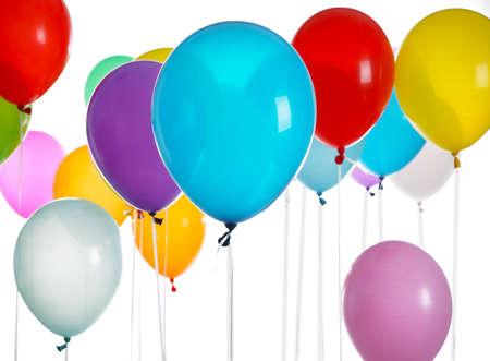 Colorful birthday balloons, closeup Stok Fotoğraf