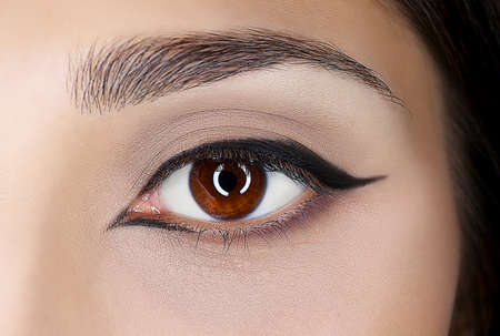 Beautiful eye makeup, closeup
