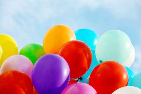 Colorful birthday balloons, closeup Reklamní fotografie