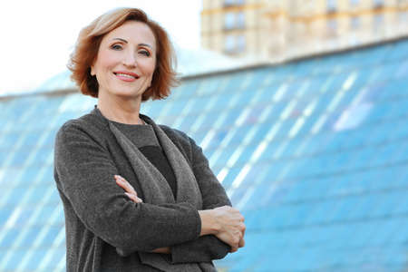 Portrait of beautiful middle aged businesswoman Reklamní fotografie