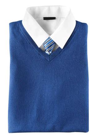 School uniform for boy on white background Stockfoto