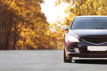 Luxury car outdoors