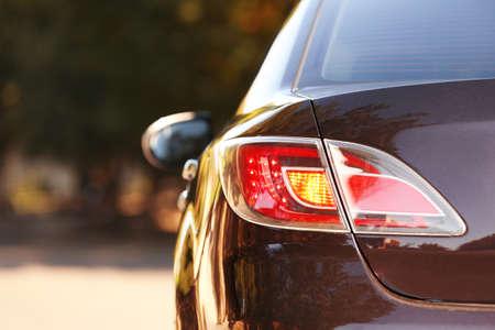 Car rear lights, closeup