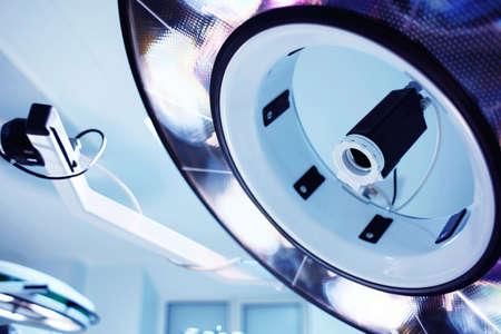Lamp in operating room, closeup