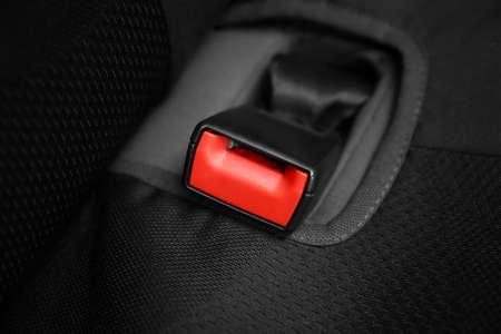 Seat belt lock in car Stock Photo