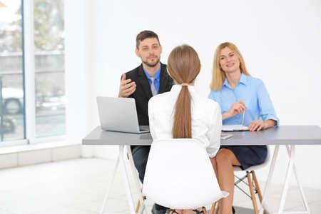 concept interview emploi . ressources humaines interview femme