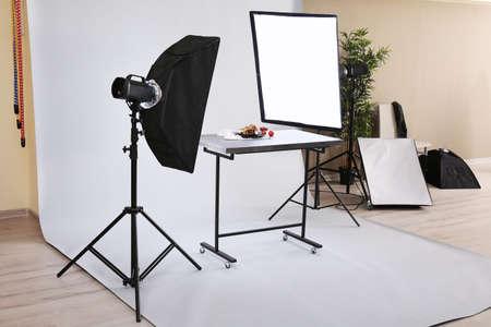 Food shooting in professional photo studio