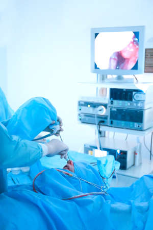 Operating of patient in modern hospital