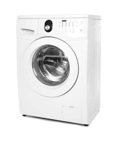 Washing machine on white background 版權商用圖片 - 97336009