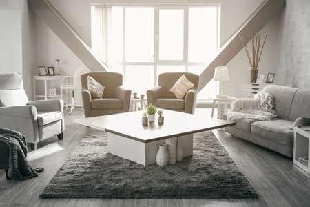Interior design of living room Stock fotó