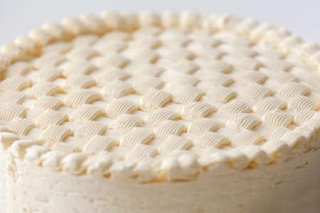 Delicious plain cheesecake, closeup