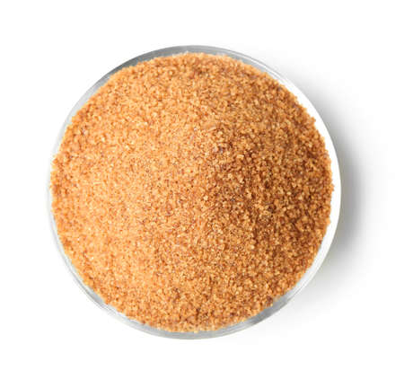 Heap of brown sugar, isolated on white