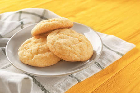 Tasty sugar cookies on plate