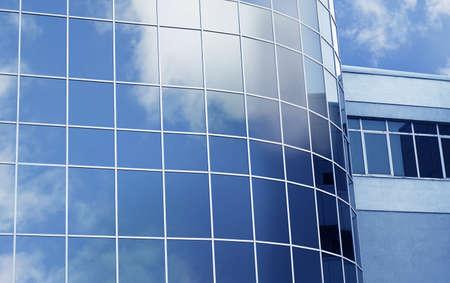 Modern skyscraper with tinted windows