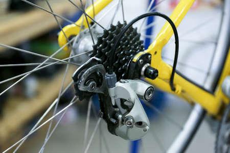 Bicycle wheel, closeup