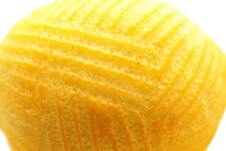 Fresh peeled lemon, closeup
