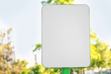 Empty signboard, outdoors Stock Photo