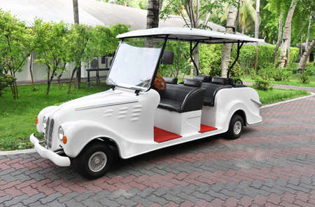 Modern buggy at tropical resort Stockfoto