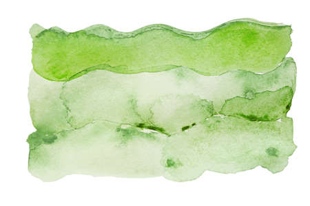 Green watercolor stain on white background Stock fotó