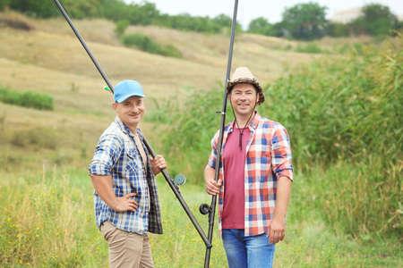 Men going fishing on summer day 免版税图像 - 101605421
