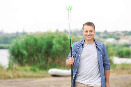 Man going fishing on summer day 免版税图像 - 101503985