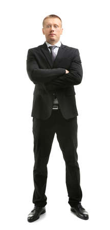 Male security guard on white background Stock Photo