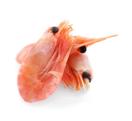 Delicious shrimps on white background Stock Photo