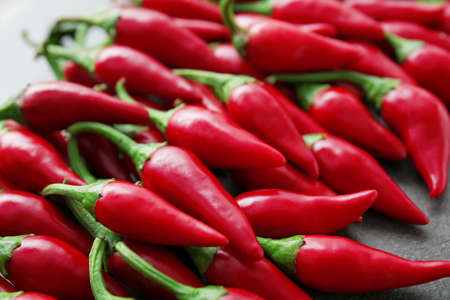 Red chili peppers, closeup Stock Photo