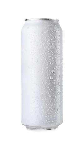 Blechdose, isoliert auf weiss Standard-Bild