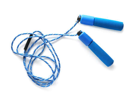 Jumping rope on white background 免版税图像