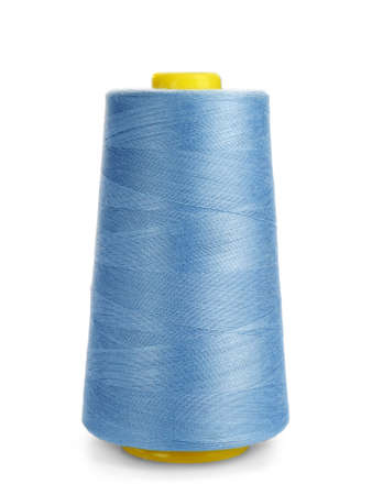 Spool of sewing thread on white background
