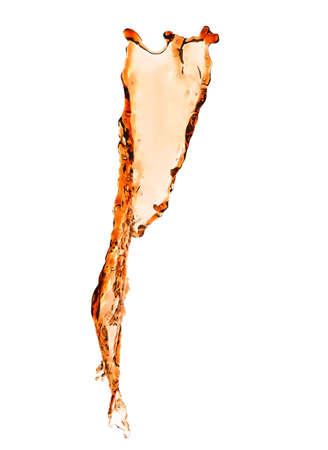 Cola splash on white background