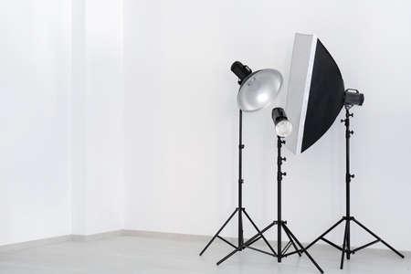 Professional equipment in modern photo studio Stock Photo