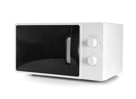 Modern microwave oven on white background Reklamní fotografie