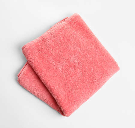 Soft terry towel on white background Banco de Imagens