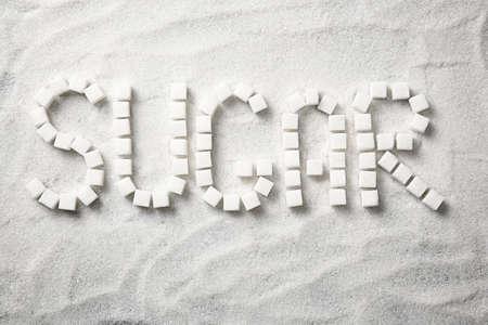 Word Sugar on sugar sand