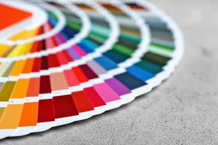 Color palette samples on light background