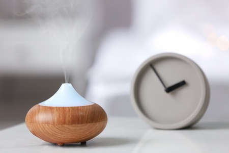Humidifier on table at home