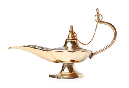Aladdin magic lamp on white background