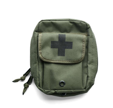 First-aid kit on white background 스톡 콘텐츠 - 105139246