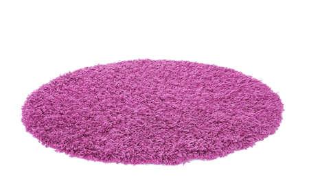 白い背景に丸い色のカーペット 写真素材 - 105167074