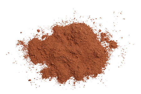 Cocoa powder on white background 免版税图像