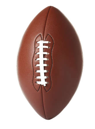 Leather American football ball on white background Stock Photo