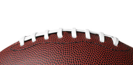 Leather American football ball on white background, closeup Stock Photo