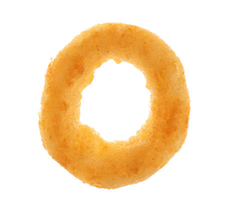 Freshly cooked onion ring on white background Stock Photo
